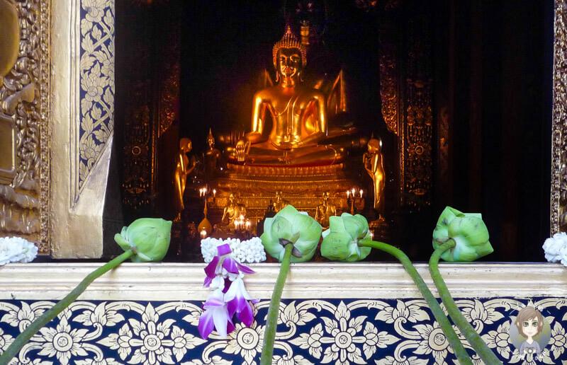 Der sehenswerte lucky Buddha in Bangkok - Reisebericht Thailand Rundreise