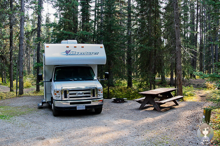 Castle Mountain Campground, Banff National Park, Kanada