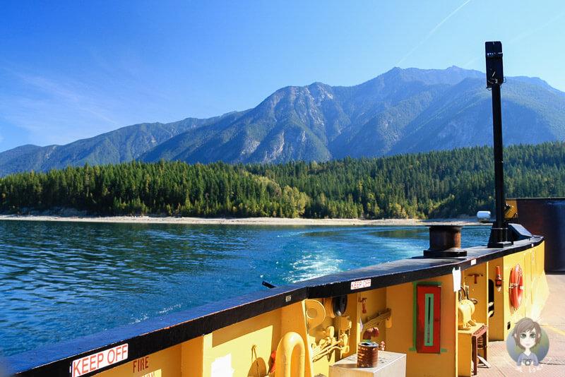 Auf der Fähre Richtung Shelter Bay, Upper Arrow Lake, Kanada