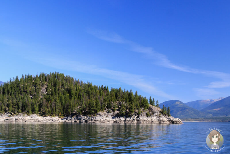 Aussicht auf dem Upper Arrow Lake, Kanada