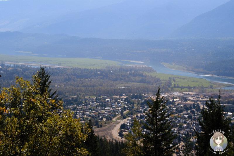Blick auf Revelstoke, BC, Kanada