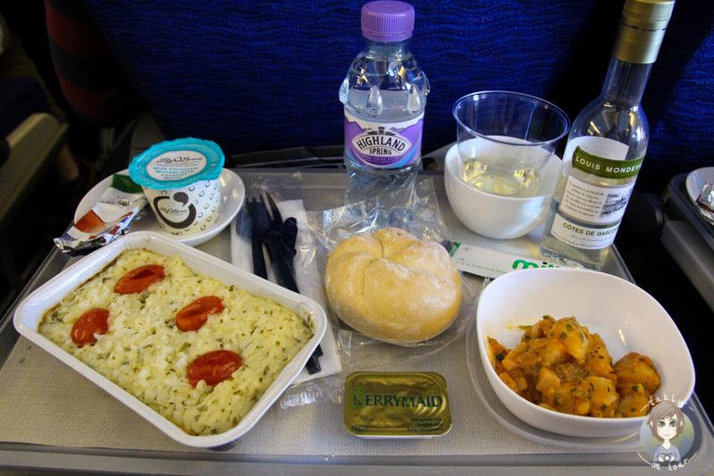 Flugzeugessen bei British Airways
