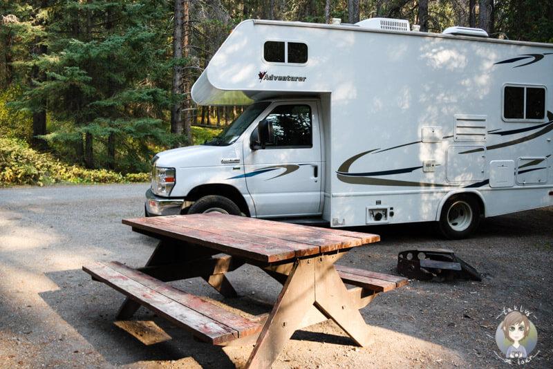 Castle Mountain Campground, Alberta, Kanada
