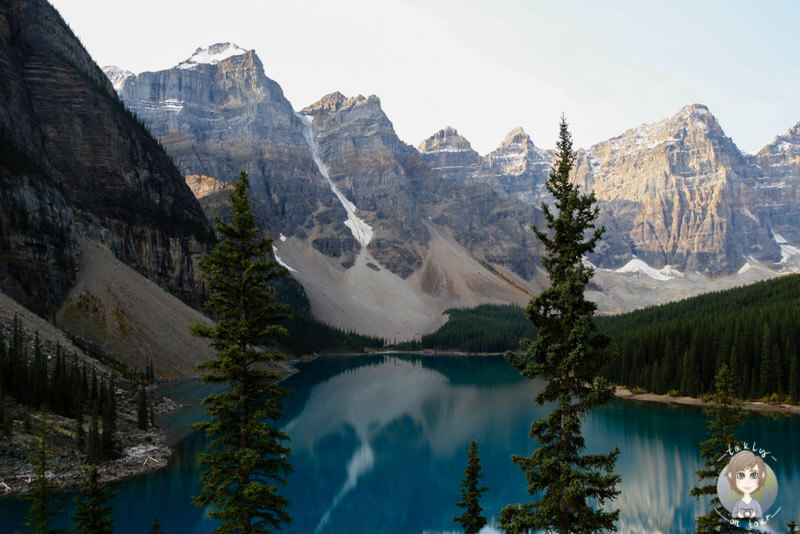 Der Moraine Lake im Banff National Park, Alberta, Kanada