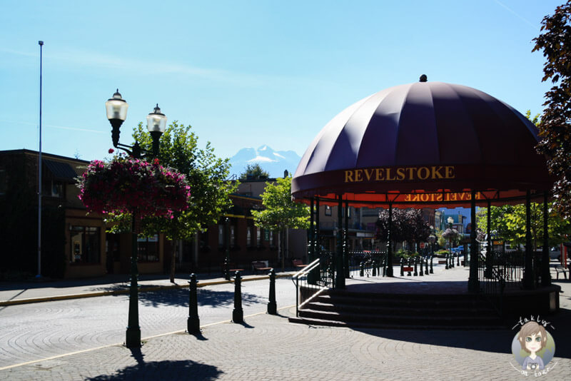Die Innenstadt von Revelstoke, Kanada