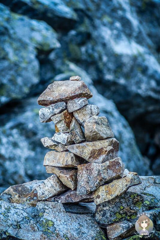 Ein Steinhaufen im Mt. Revelstoke National Park, Kanada