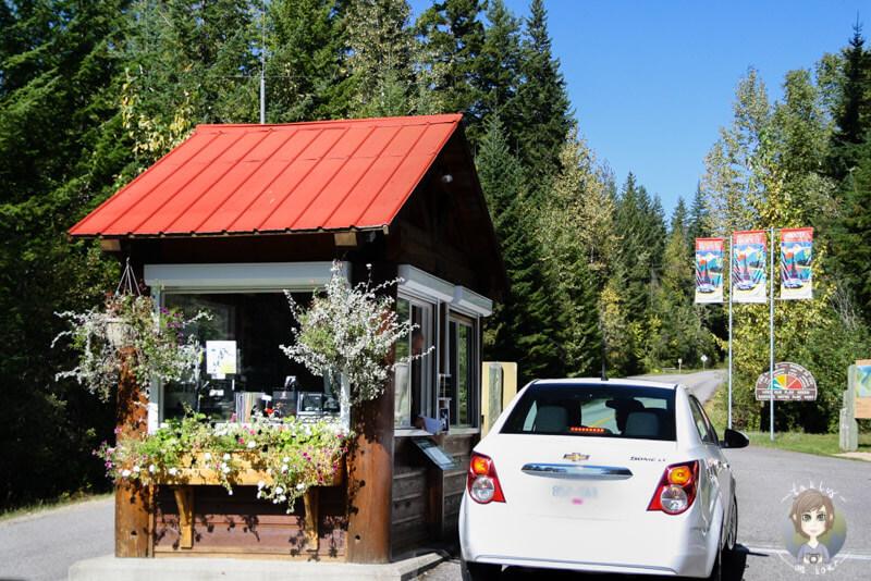 Eingang des Mount Revelstoke National Park, BC, Kanada