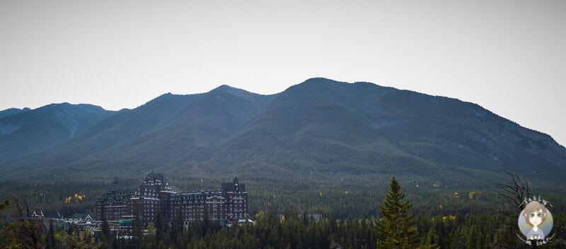Viewpoint auf das Fairmont Banff Springs Hotel, Kanada