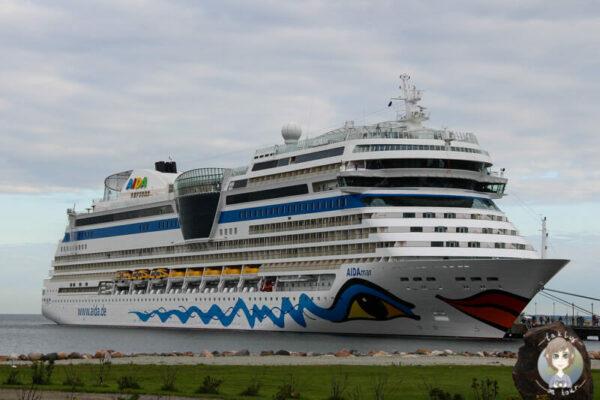 Die AIDA mar im Hafen von Tallinn. Teil von unserem Reisebericht AIDA Ostsee