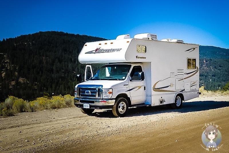 Ein Camper auf unserer Kanada Rundreise mit dem Wohnmobil