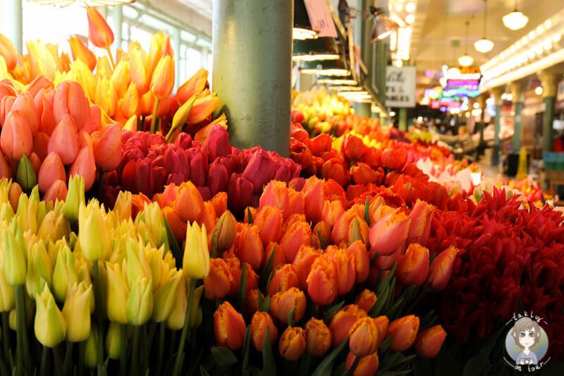 Blumen auf dem Public Market Sattle