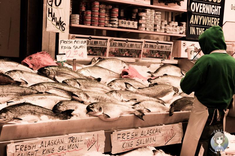 Fisch auf dem Public Market Sattle