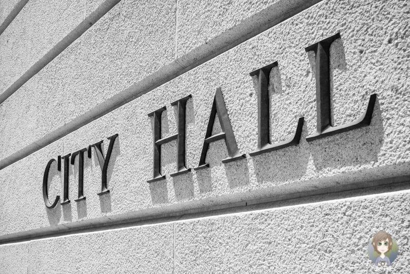 Schild der City Hall, LA