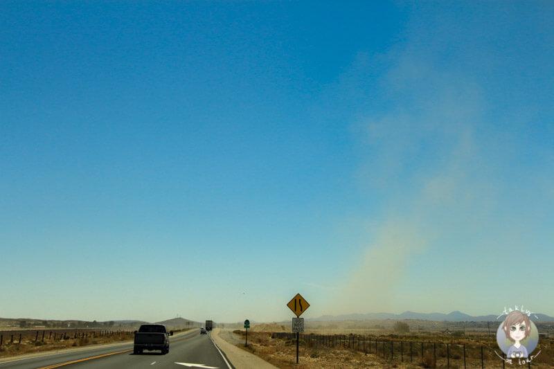 Sandsturm Richtung Las Vegas
