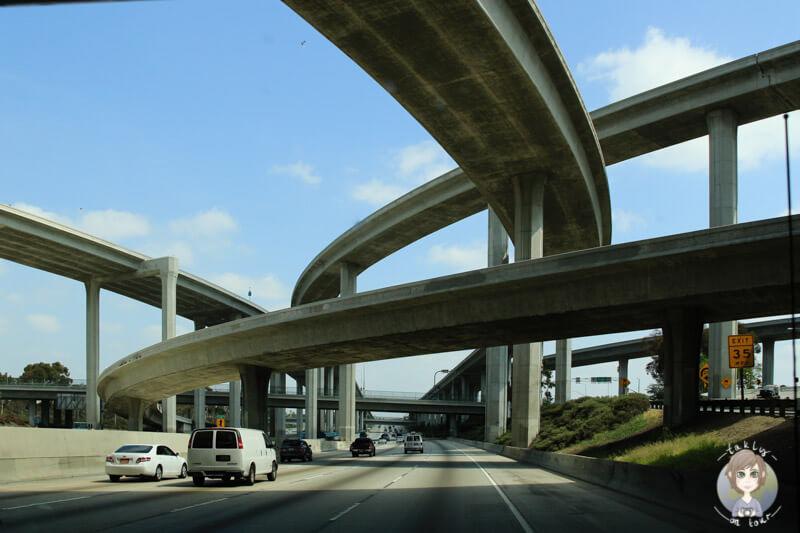 Typische Straßen in LA