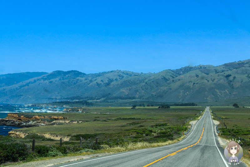 Fahrt über den highway 1