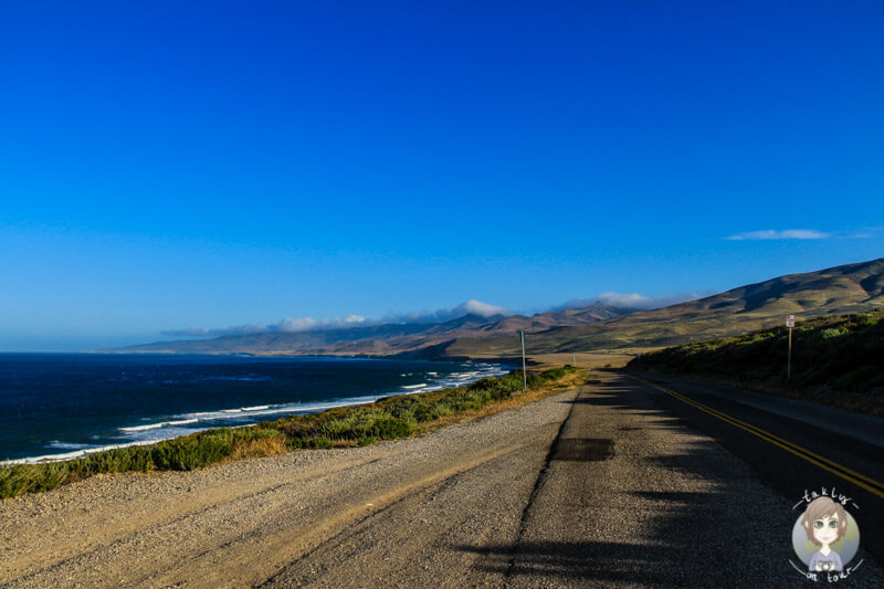 Die Jalama Beach Road am Morgen