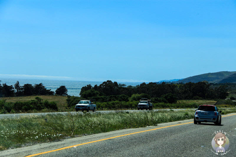 Straße am Pazifik entlang