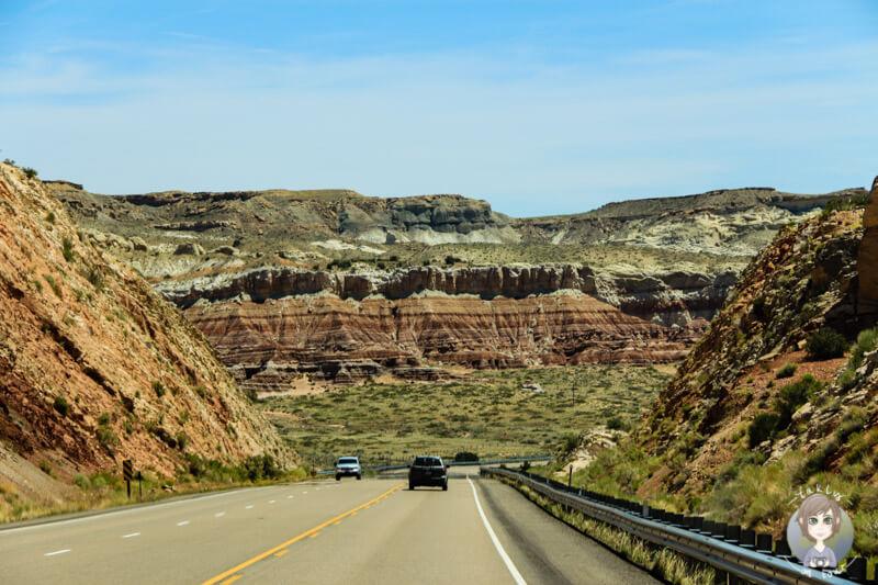 Fahrt durch den Canyon von Kanab