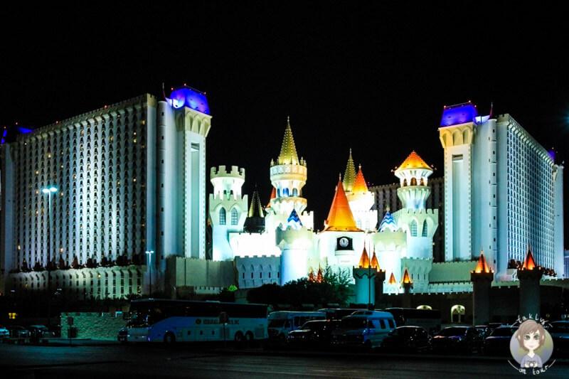 Excalibur Hotel bei Nacht
