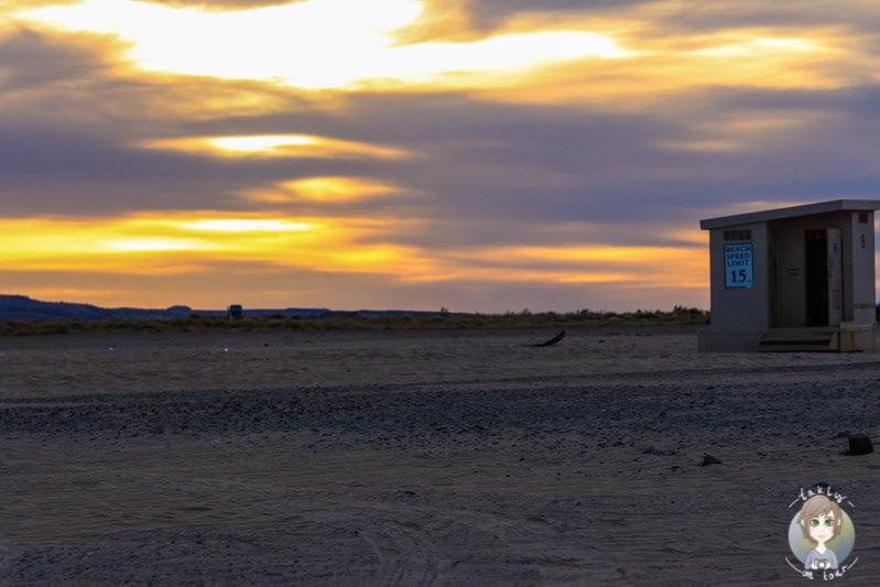 Sonnenuntergang auf dem Lone Rock Campground