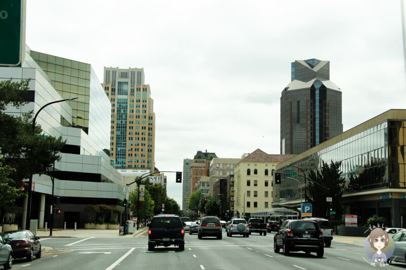 Fahrt durch Sacramento
