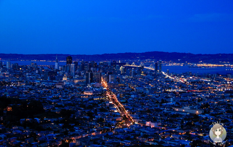 San Francisco in der blauen Stunde