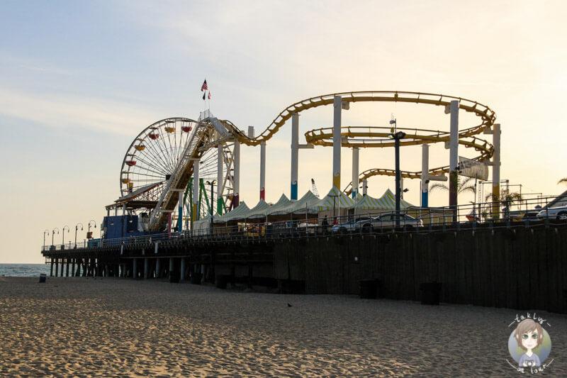 Achterbahn auf dem Santa Monica Pier