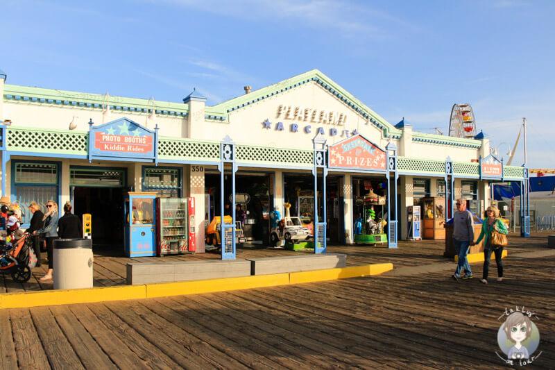 Spaziergang über den Santa Monica Pier