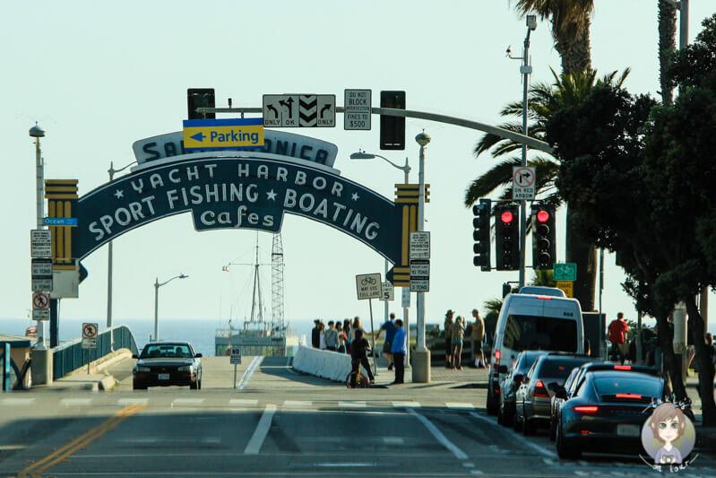 Eingang vom Santa Monica Pier