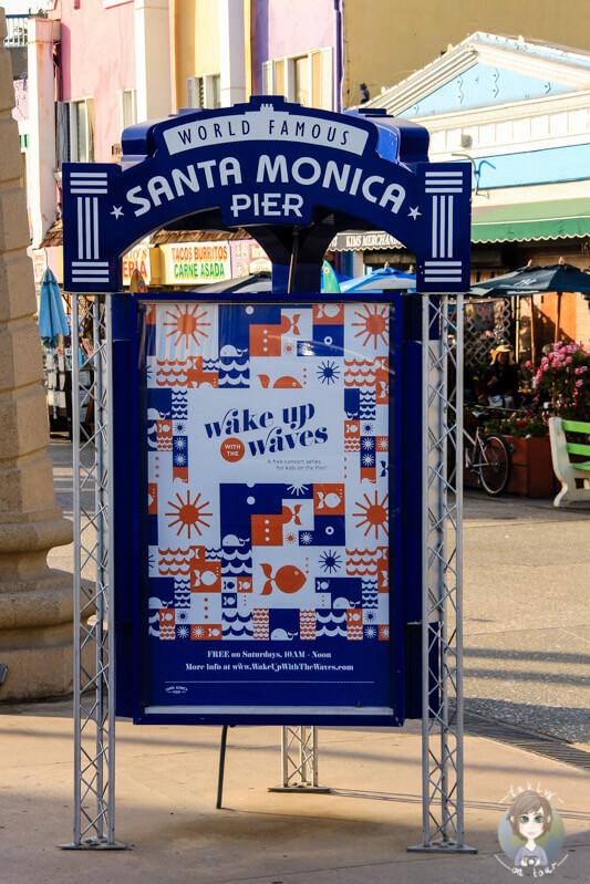 am Santa Monica Pier