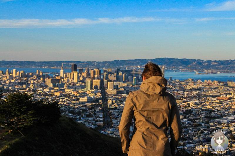 Blick auf San Francisco von den Twin Peaks