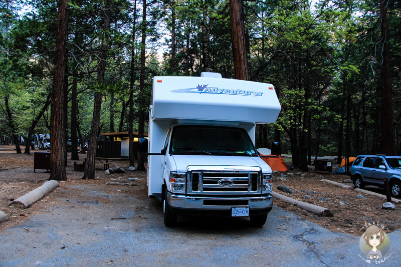Upper Pines Campground im Yosemite Nationalpark