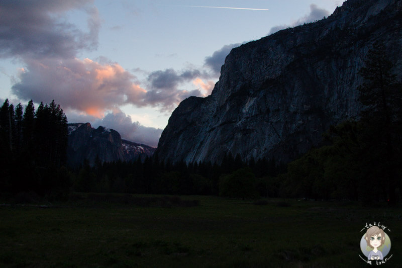 Yosemite Valley im Sonnenuntergang