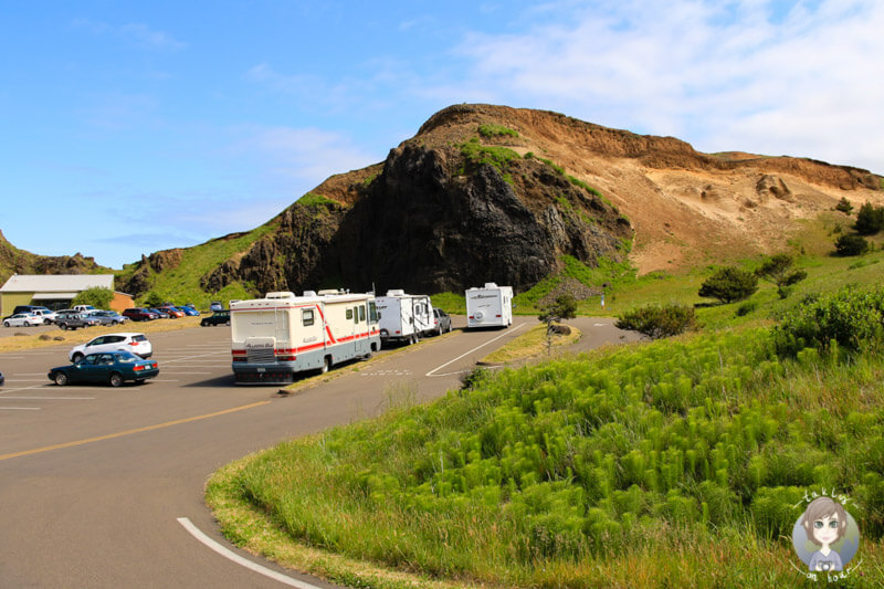 Parkplatz in der Yaquina Head Natural Area