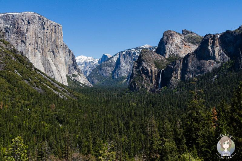 Blick auf den Yosemite National Park auf unserer Rundreise USA Westkueste