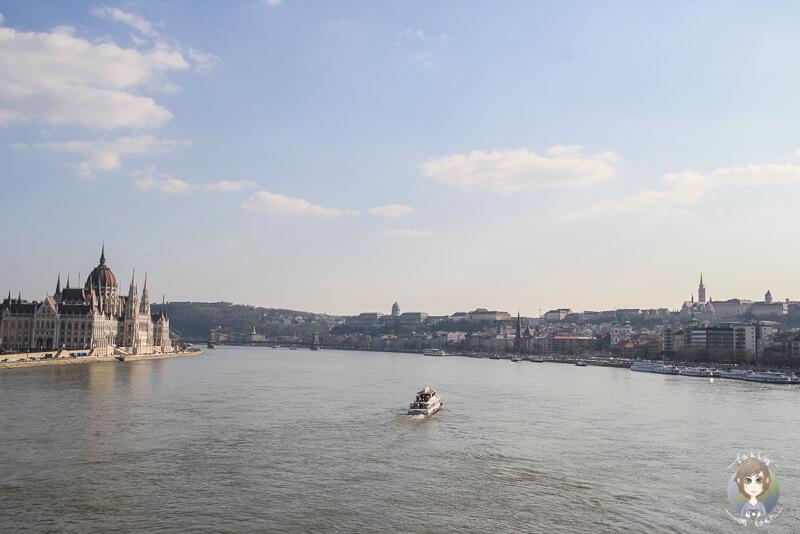 Sightseeing mit einer Bootstour in Budapest Blick auf die Donau