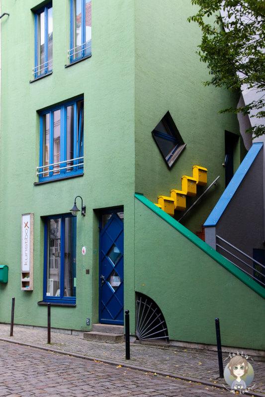 Kunterbunte Architektur in den Gassen von Schnoor