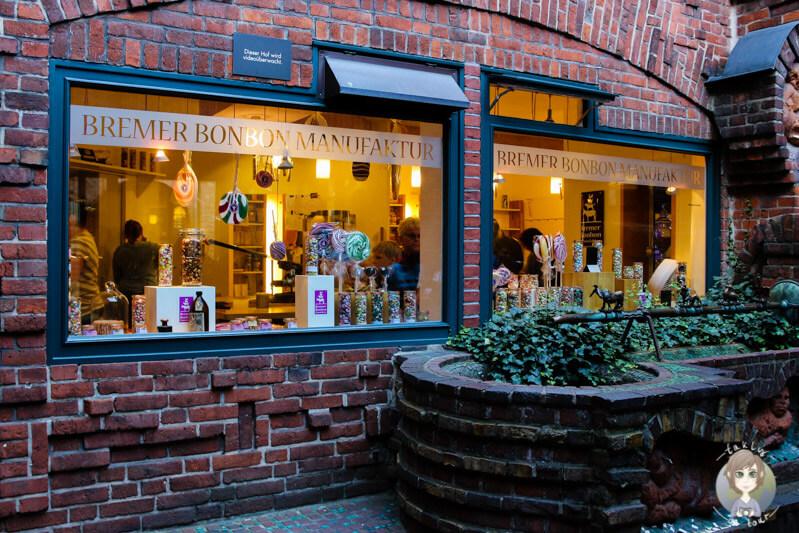 Die Bremer Bonbon Manufaktur in der Böttcherstraße