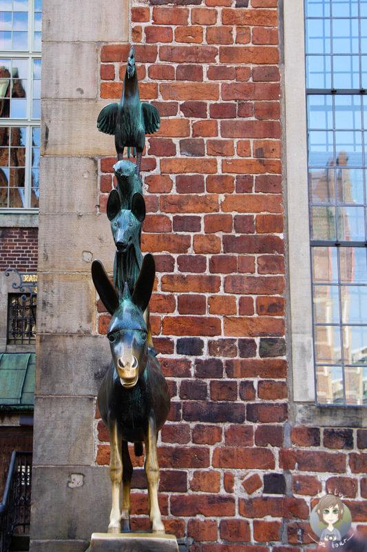 Das Wahrzeichen von Bremen, die Bremer Stadtmusikanten