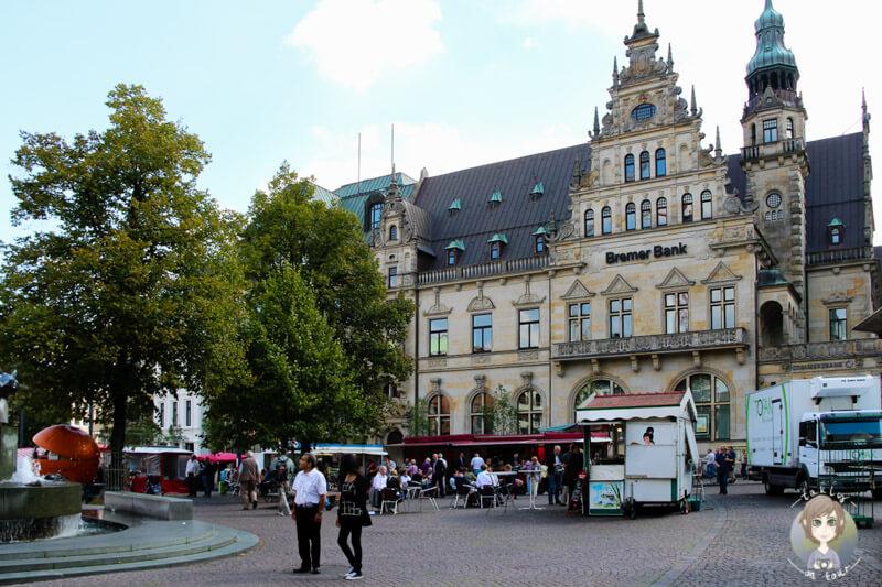Ein Markt in Bremen