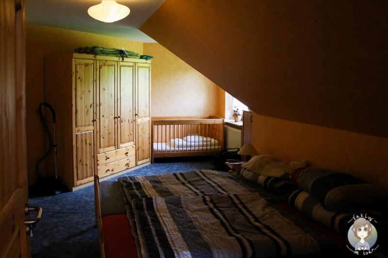 Schlafzimmer in unserer schönen Ferienwohnung in Ostfriesland