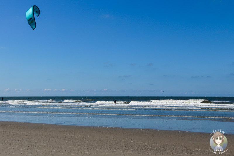 Kitesurfer auf der Nordsee