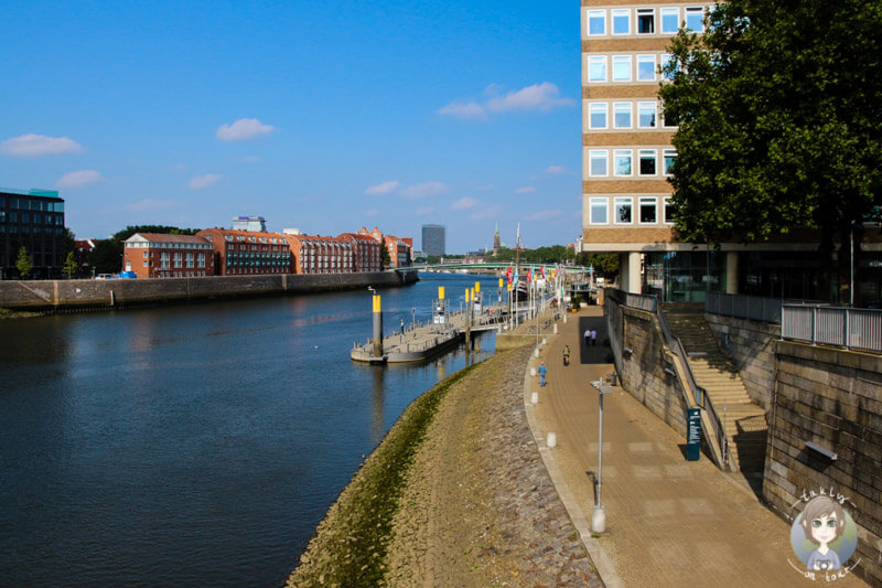 Der Fluss Weser in Bremen