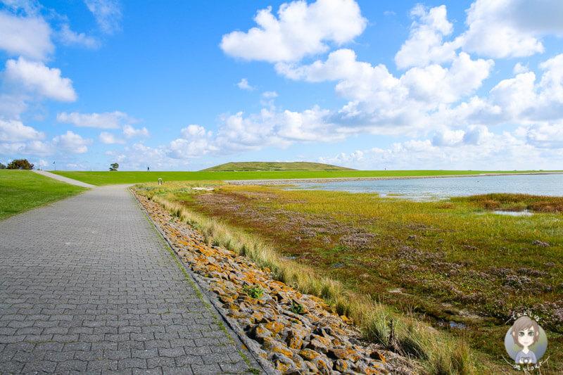 Spaziergang am Deich auf der Insel Norderney