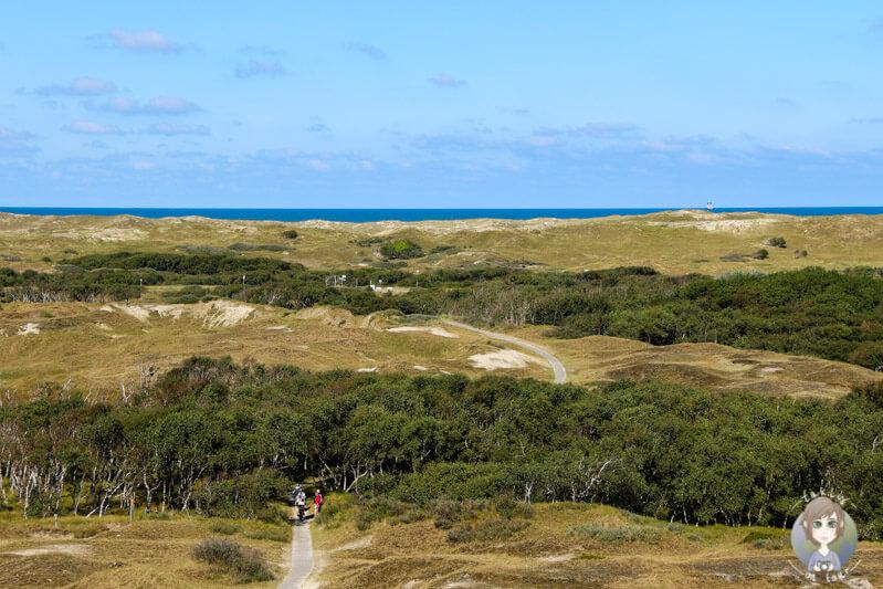 Weiter Blick über die Insel und die Nordsee