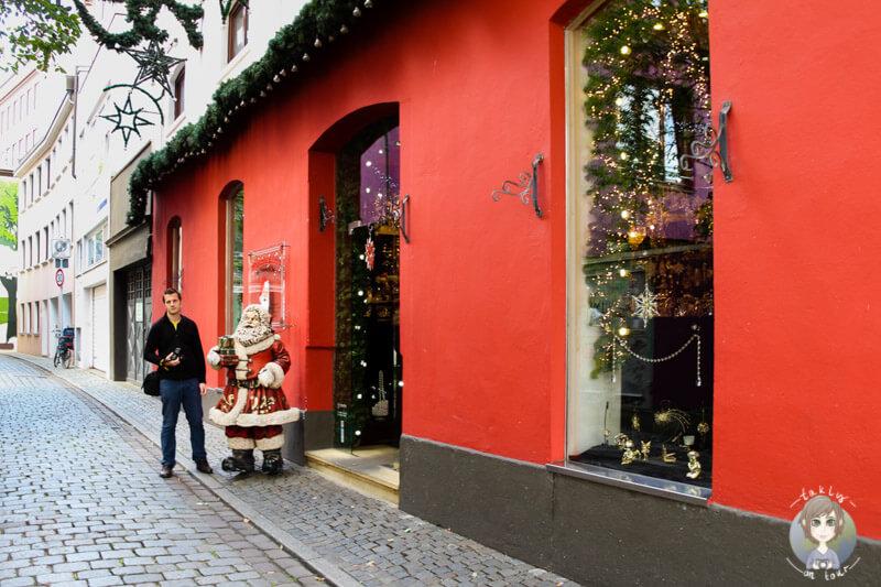 Geschäft mit Weihnachtssachen in Bremen, Schnoor