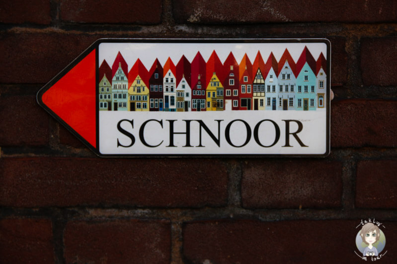 Der Wegweiser Richtung Schnoor in Bremen
