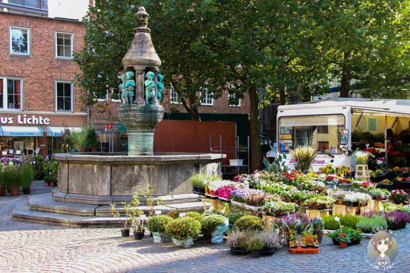 Ein Wochenmarkt in Bremen