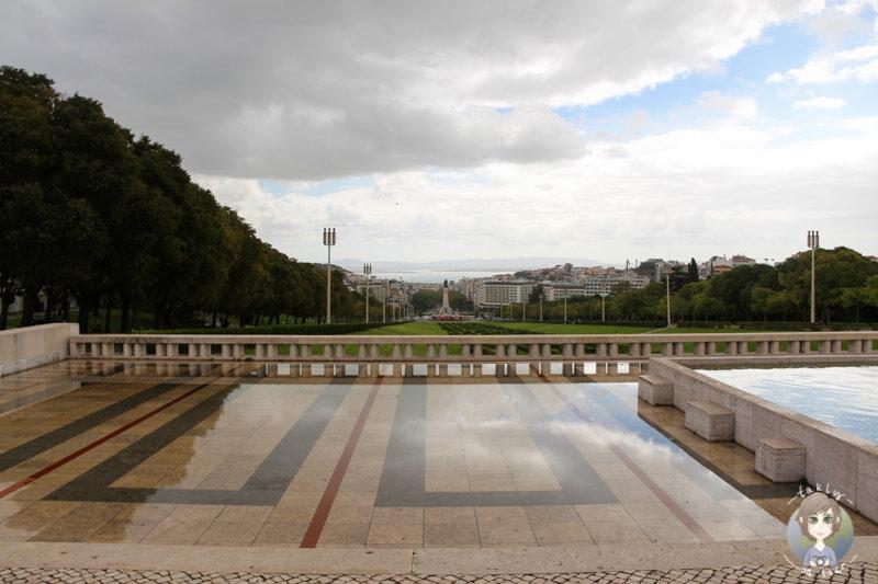 Am oberen Ende des Parks Eduardo VII